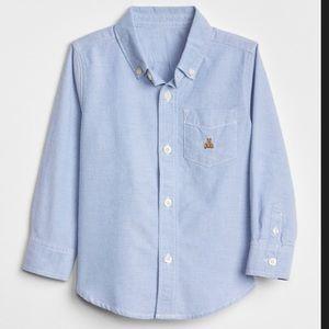 Baby Gap oxford blue button down shirt 5